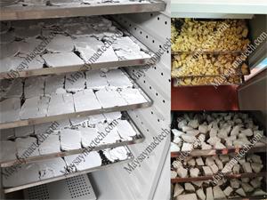 Máy sấy bột gạo, các cơ sở sản xuất bột lọc sử dụng rất nhiều