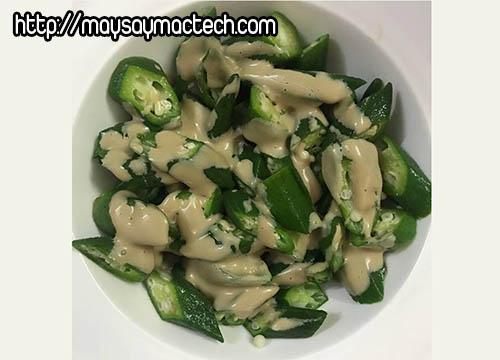 10 món ăn ngon dễ làm từ trái đậu bắp - salad đậu bắp