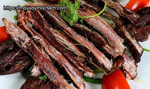 Cách làm thịt trâu gác bếp tại nhà - thịt trâu gác bếp mới ra lò