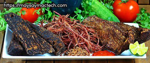 Phân biệt thịt trâu khô, thịt trâu gác bếp xịn với thịt trâu giả