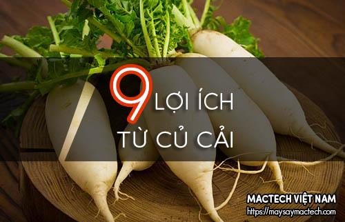 9 Lợi ích từ củ cải trắng mang lại