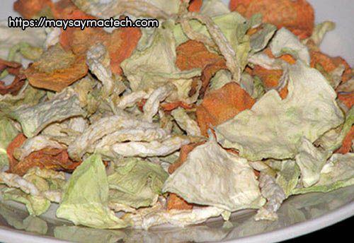 Ích lợi của su hào sấy khô, một loại thực phẩm khô rất tiện lợi