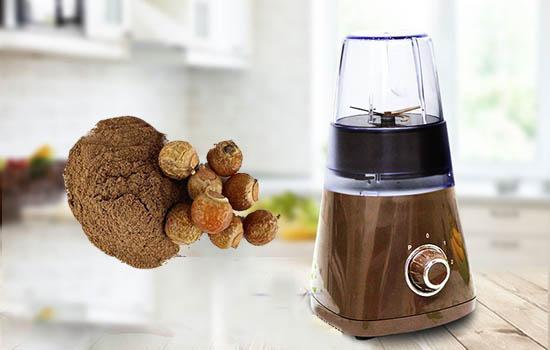 Cách làm bột bồ hòn - xay quả bồ hòn bằng cối xay ngũ cốc
