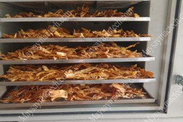 Nhiệt độ sấy măng đảm bảo măng khô chất lượng cao, màu đẹp