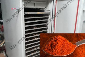 Máy sấy bột gấc, thiết bị được sử dụng nhiều trong sản xuất tình dầu gấc