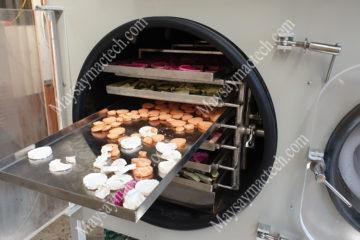 Dịch vụ sấy thực phẩm, rau củ số lượng nhỏ trên máy sấy thăng hoa