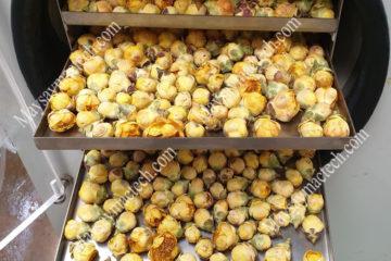 Hoa trà vàng sấy khô nguyên hình dạng, màu sắc bằng sấy thăng hoa