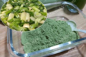 Cách làm bột cần tây, dùng sấy nóng, sấy lạnh hay sấy thăng hoa