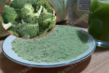 Cách làm bột bông cải xanh, dùng sấy thăng hoa, sấy lạnh hay nóng